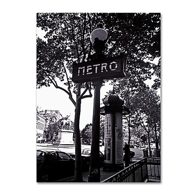 Trademark Fine Art 'Paris Metro and Kiosk' 14