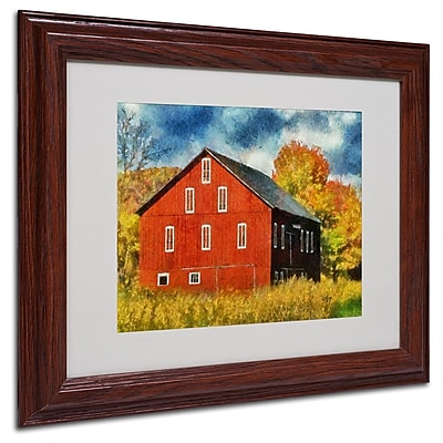 Trademark Fine Art 'Red Barn In Autumn' 11