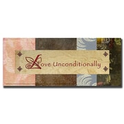 "Trademark Fine Art 'Love Unconditionally' 12"" x 32"" Canvas Art"