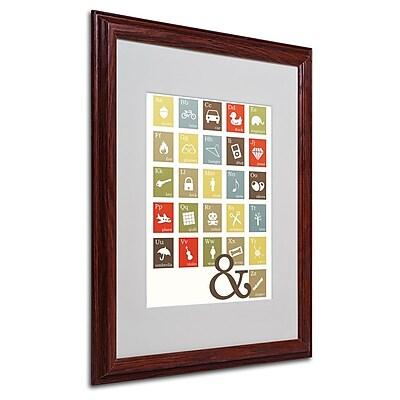 Trademark Fine Art 'Alpha Bits Earth Tones' 16