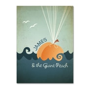 "Trademark Fine Art 'James and th Giant Peach' 14"" x 19"" Canvas Art"