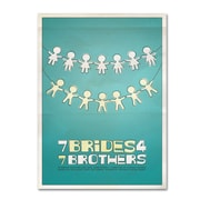 "Trademark Fine Art 'Seven Brides for Seven Brothers' 30"" x 47"" Canvas Art"