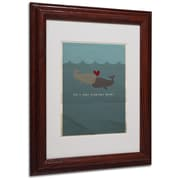 "Trademark Fine Art 'The Voyage Home' 11"" x 14"" Wood Frame Art"