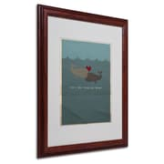 "Trademark Fine Art 'The Voyage Home' 16"" x 20"" Wood Frame Art"
