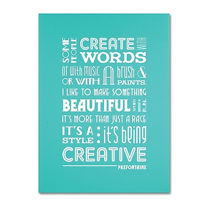 Trademark Fine Art 'Creative Running I' 35