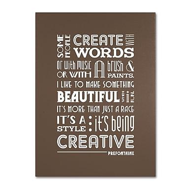 Trademark Fine Art 'Creative Running II' 14