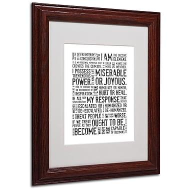 Trademark Fine Art 'Decisive Elements II' 11