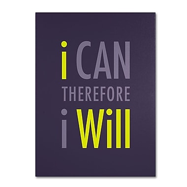 Trademark Fine Art 'I Will I' 35