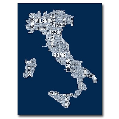 Trademark Fine Art 'Italy City Map II' 18