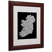 "Trademark Fine Art 'Ireland VIII' 11"" x 14"" Wood Frame Art"