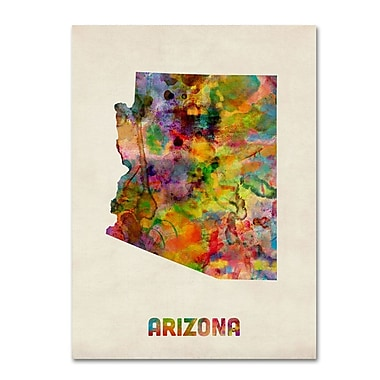 Trademark Fine Art 'Arizona Map' 18