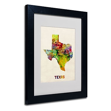 Trademark Fine Art 'Texas Map' 11