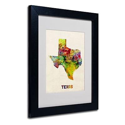 Trademark Fine Art 'Texas Map' 11