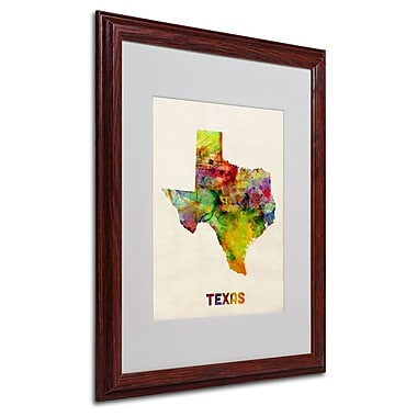 Trademark Fine Art 'Texas Map' 16