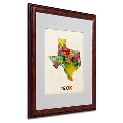 Trademark Fine Art 'Texas Map' 16