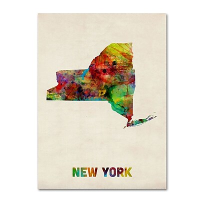 Trademark Fine Art 'New York Map' 35