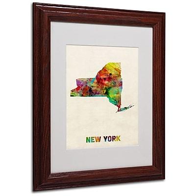 Trademark Fine Art 'New York Map' 11