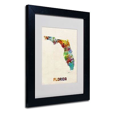 Trademark Fine Art 'Florida Map' 11