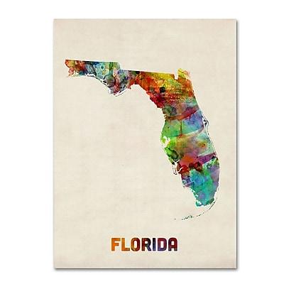Trademark Fine Art 'Florida Map' 18