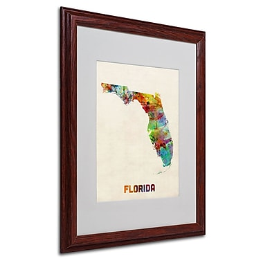 Trademark Fine Art 'Florida Map' 16