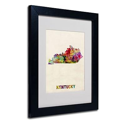 Trademark Fine Art 'Kentucky Map' 11
