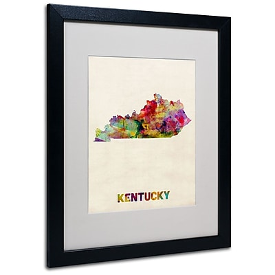 Trademark Fine Art 'Kentucky Map' 16