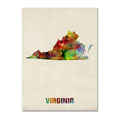 Trademark Fine Art 'Virginia Map' 14