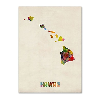 Trademark Fine Art 'Hawaii Map' 18