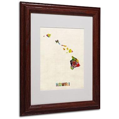 Trademark Fine Art 'Hawaii Map' 11