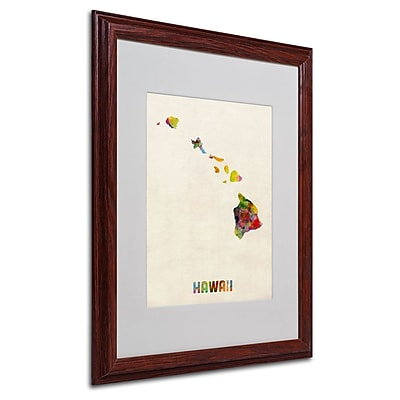 Trademark Fine Art 'Hawaii Map' 16