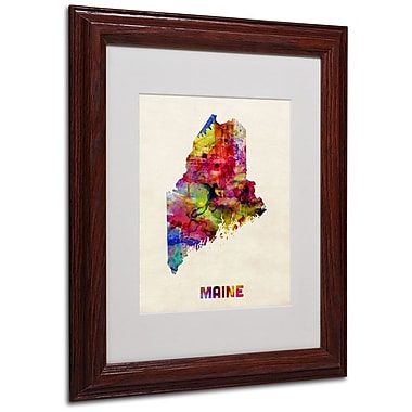 Trademark Fine Art 'Maine Map' 11