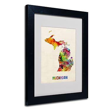 Trademark Fine Art 'Michigan Map'