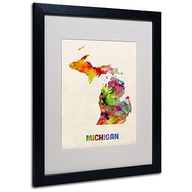 Trademark Fine Art 'Michigan Map' 16