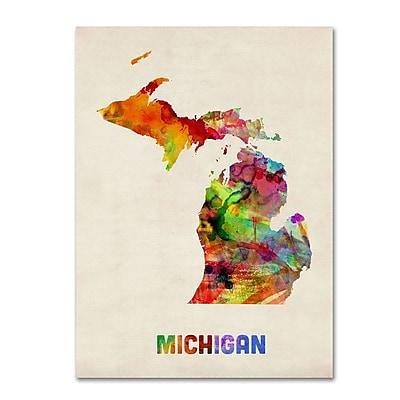 Trademark Fine Art 'Michigan Map' 24