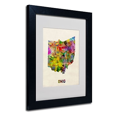 Trademark Fine Art 'Ohio Map'
