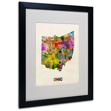 Trademark Fine Art 'Ohio Map' 16