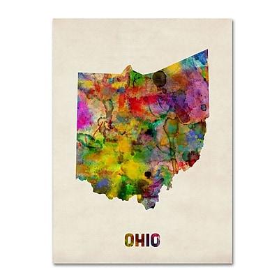 Trademark Fine Art 'Ohio Map' 24