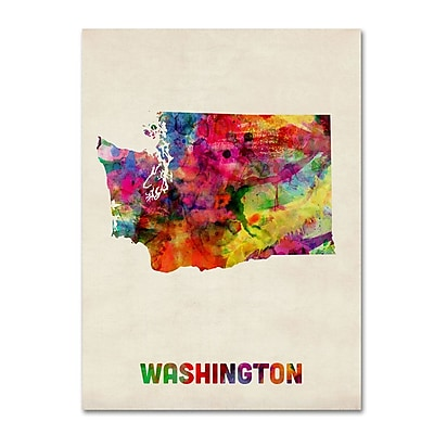 Trademark Fine Art 'Washington Map' 14