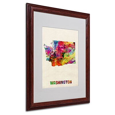 Trademark Fine Art 'Washington Map' 16