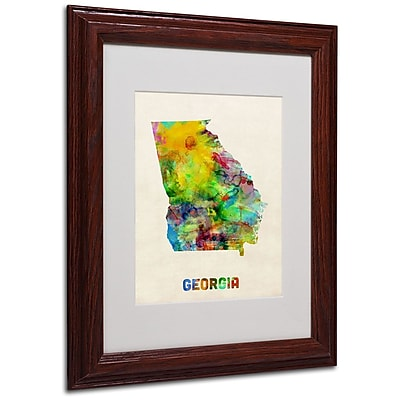 Trademark Fine Art 'Georgia Map' 11