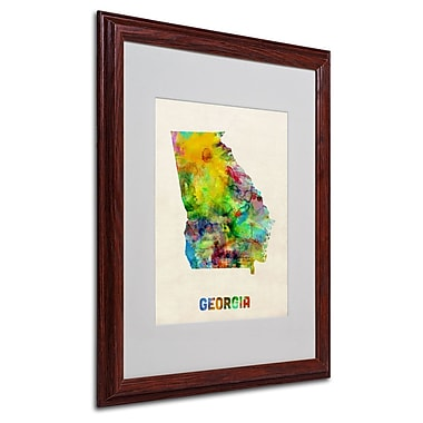 Trademark Fine Art 'Georgia Map' 16