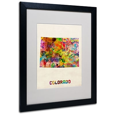 Trademark Fine Art 'Colorado Map' 16