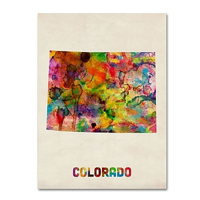 Trademark Fine Art 'Colorado Map' 24