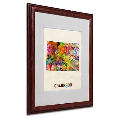 Trademark Fine Art 'Colorado Map' 16