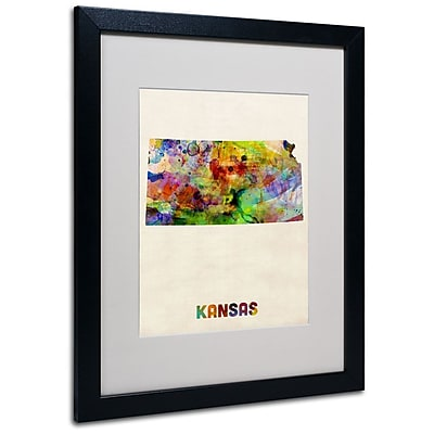 Trademark Fine Art 'Kansas Map' 16