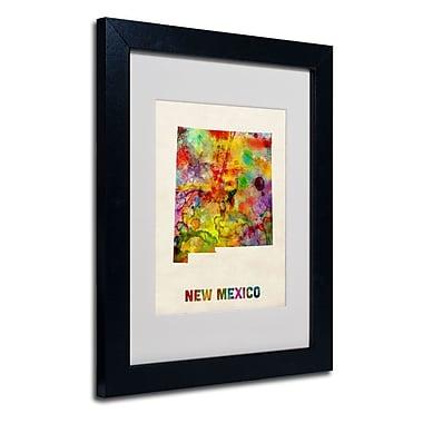 Trademark Fine Art 'New Mexico Map'