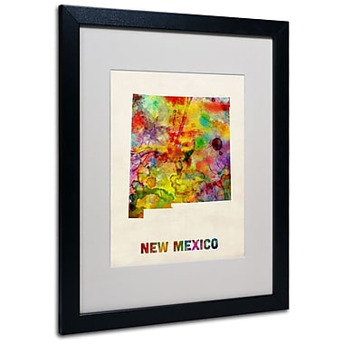 Trademark Fine Art 'New Mexico Map' 16