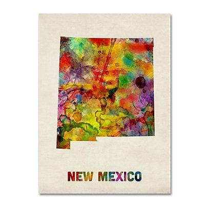 Trademark Fine Art 'New Mexico Map' 35