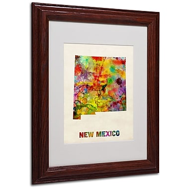 Trademark Fine Art 'New Mexico Map' 11