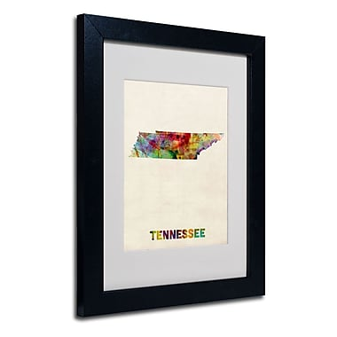 Trademark Fine Art 'Tennessee Map'